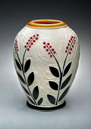 Red-Dot-Flower-Vase
